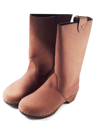 Brown clogs boots