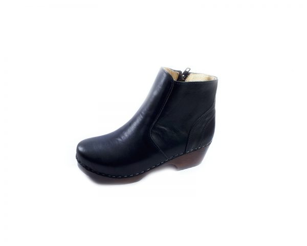 black boots wooden boots clogs
