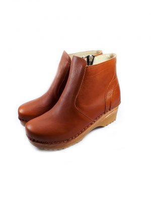 Brown clog boots