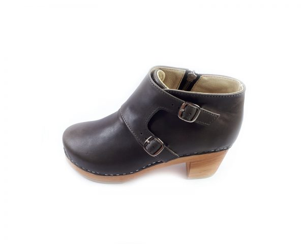 Grey clogs boots
